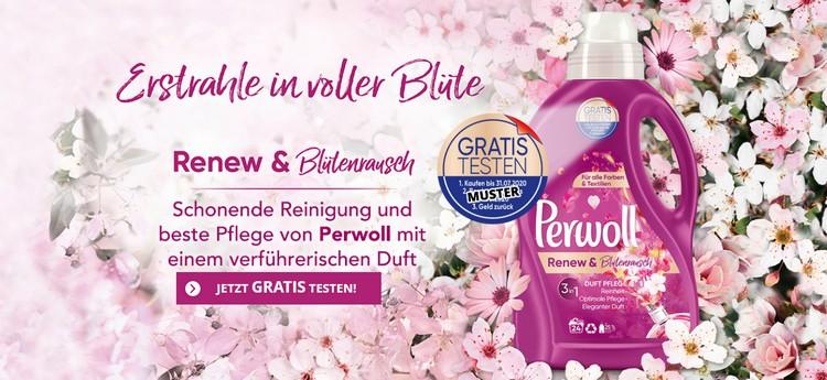 PErwoll Waschmittel gratis testen