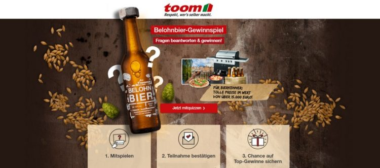 Toom Belohn-Bier Gewinnspiel