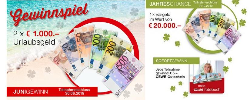 Beim Monatsgewinnspiel von Weltbild im Juni 1.000€ Bargeld gewinnen