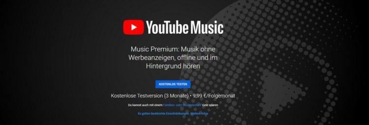 YouTube Music kostenlos testen