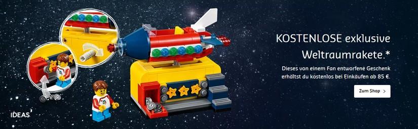 gratis Weltraumrakete von LEGO