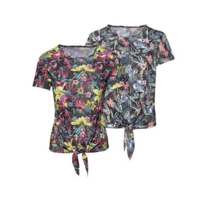 Damen T-Shirt mit Knoten von NKD