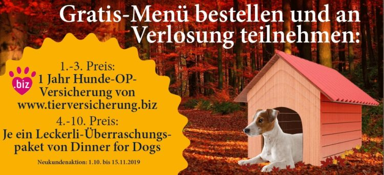 Neukundenaktion von Dinner for Dogs
