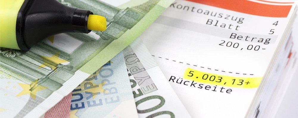 Konto Textmarker Geld