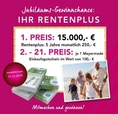 Rentenplus von Meyer-Mode gewinnen