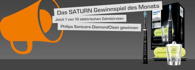 Saturn Monatsgewinnspiel: elektrische Zahnbürste von Philips gewinnen