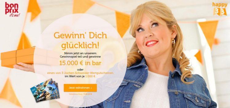 bonprix Gewinnspiel: 15.000€ gewinnen
