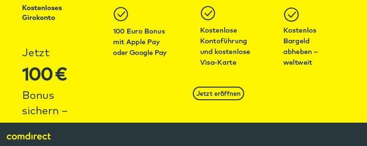 comdirect 100€ Bonus