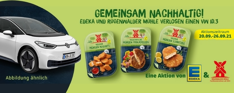 Rugenwalder Mühle Edeka Gewinnspiel VW Auto gewinnen
