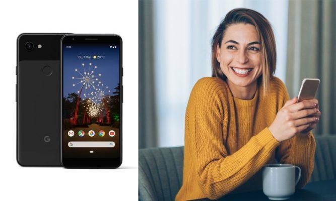 Google Pixel 3A Frau