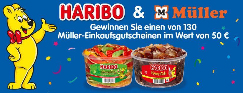 Müller und Haribo Gewinnspiel