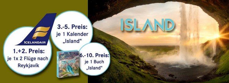 Island-Reise und andere Preise gewinnen