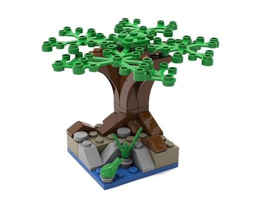 Baum aus Lego steinen