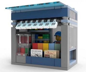 LEGO Zeitungskiosk