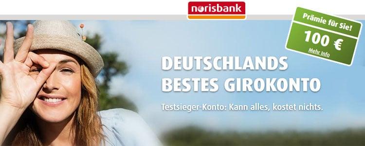 norisbank: kostenloses Girokonto