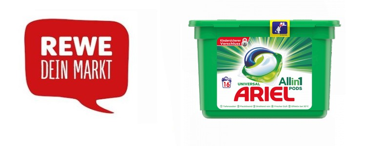 REWE Produkttest Ariel Pods