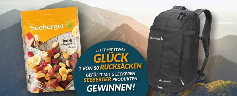 Seeberger Gewinnspiel: Rucksack gewinnen