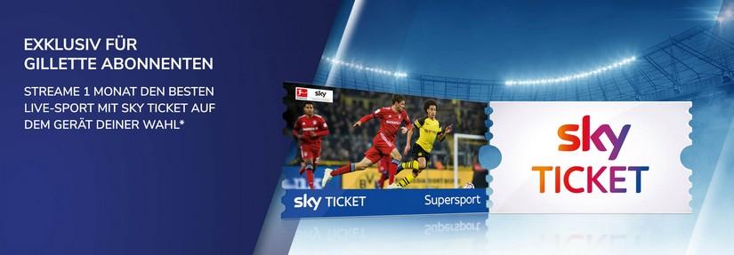 Gratis Sky Sport für Gillette Kunden