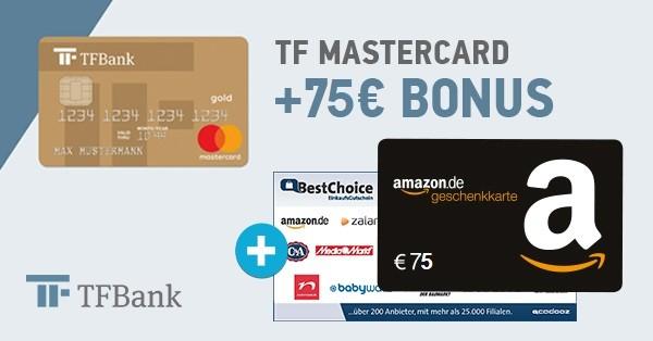 TF Mastercard + 75€ Bonus