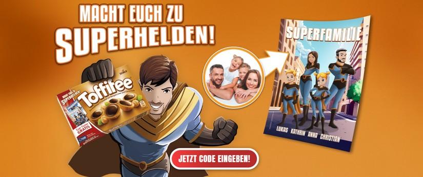 Toffifee gratis Superhelden-Poster