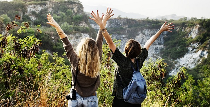 2 Frauen auf Reisen