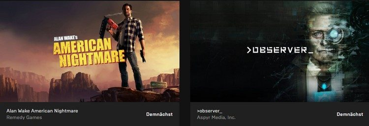 Alan Wake's American Nightmare &>observer_ kostenlos bei epic games downloaden