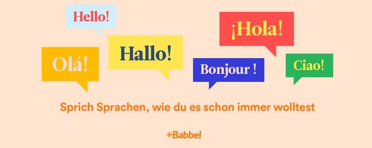 Babbel Sprachen lernen