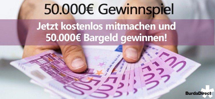 50.000€ bei Burda gewinnen