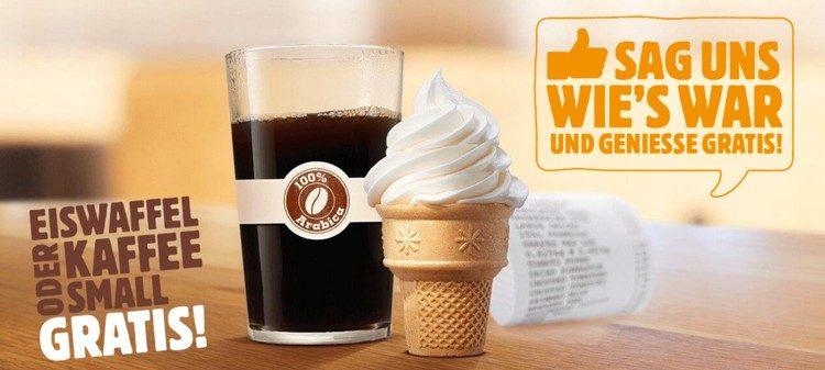 Eis und Kaffee von Burger King