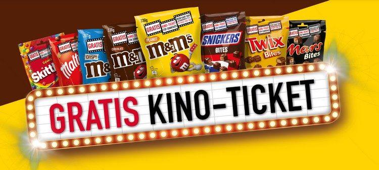 Gratis Kino-Ticket beim Kauf von Mars, Snickers, M&Ms und mehr