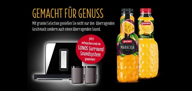 Sonos Soundsystem mit Granini gewinnen