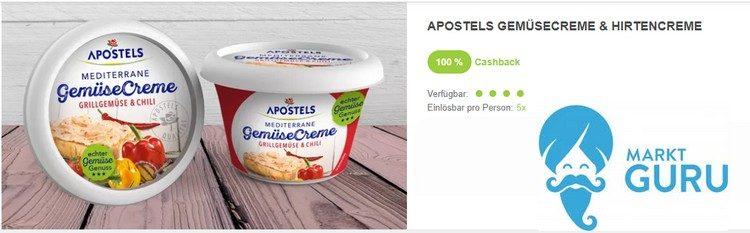 Apostels Gemüsecreme 100% Cashback