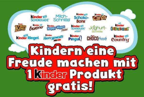 Cashback-Aktion von kinder am Weltkindertag