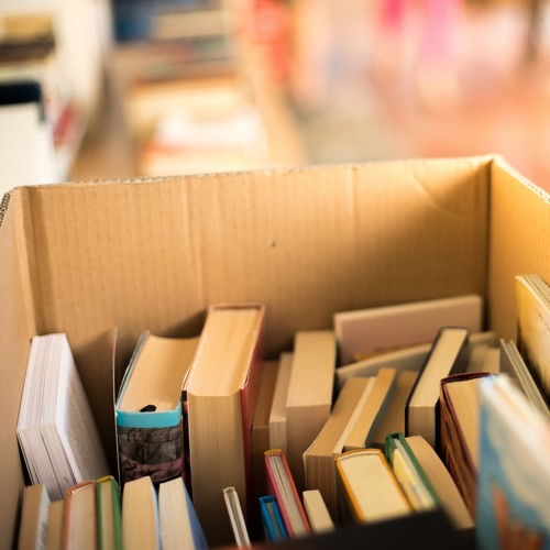 Bücher im Karton