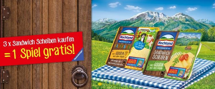 Hochland Käse kaufen, Spiel gratis erhalten