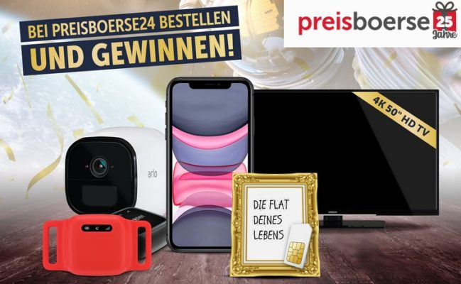 Jubiläumsverlosung von Preisboerse24