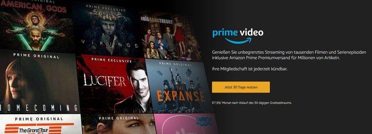 Prime Video gratis testen