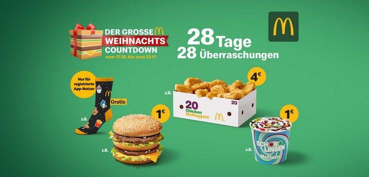 Weihnachts-Countdown McDonalds
