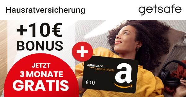 Hausratversicherung getsafe + 10€ Bonus