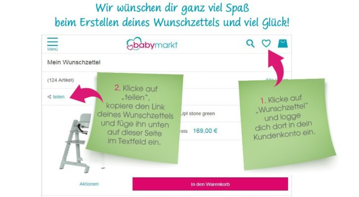 Erklärung zum Babymarkt-Gewinnspiel