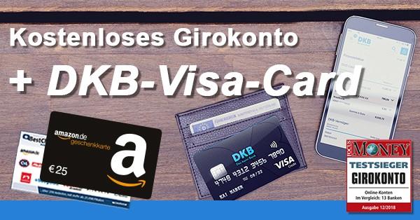 DKB Girokonto + Visa-Card + 25€ Gutschein