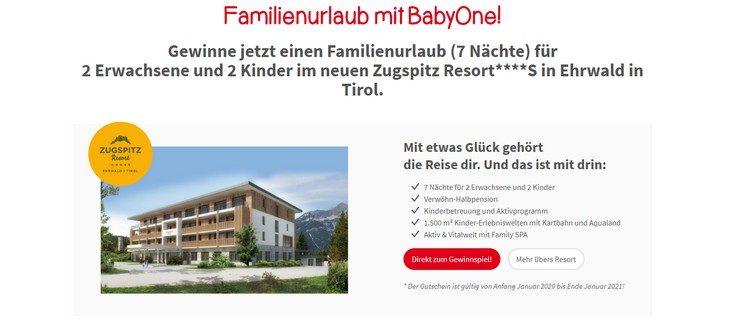 BabyOne Familienurlaub gewinnen