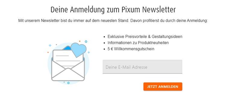 Pixum Newsletter