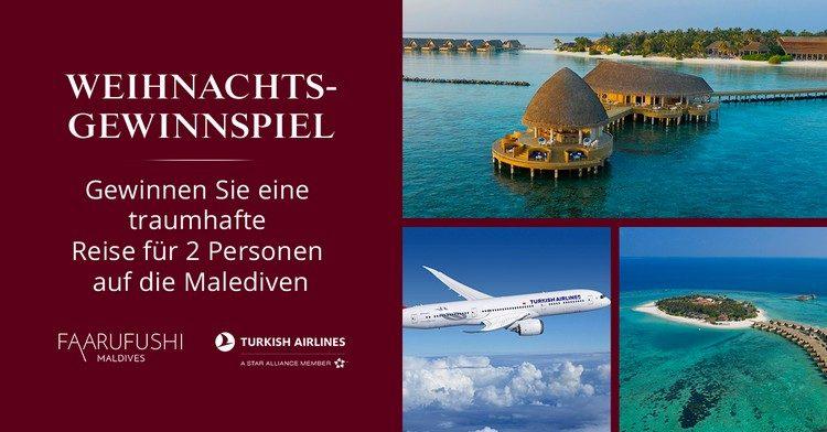 Weihnachtsgewinnspiel von Christ: Malediven-Reise gewinnen