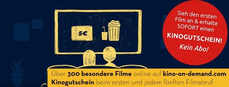 Kino on Demand: Gutschein sichern