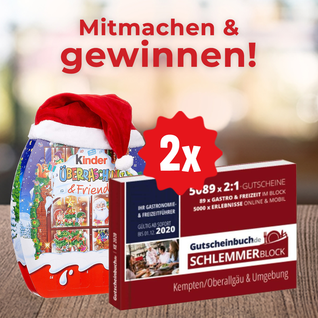 Gutscheinbuch.de-Schlemmerblock + Adventskalender gewinnen