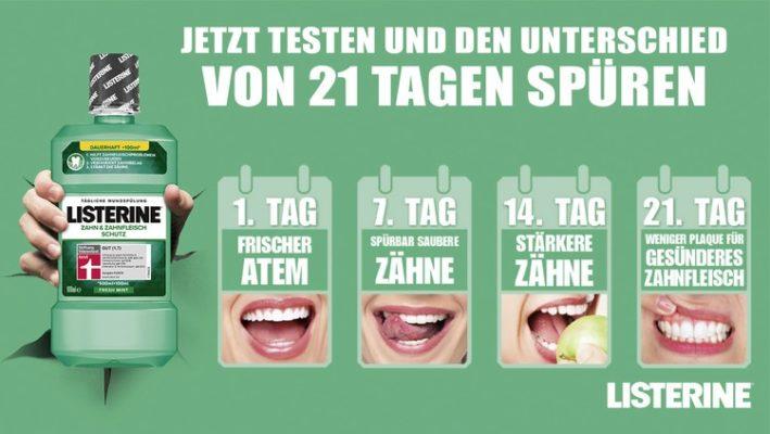 Listerine 21 Tage gratis testen