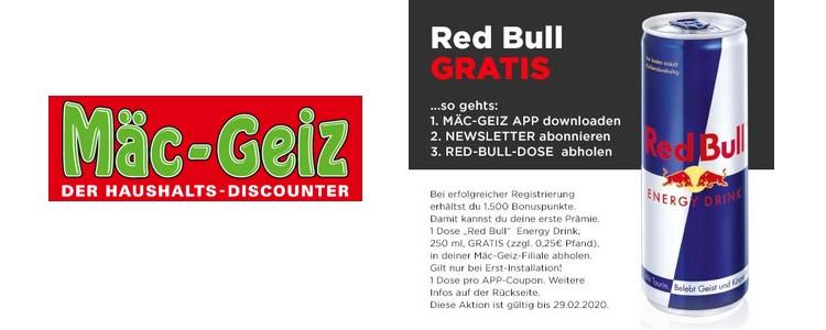 Mäc Geiz App gratis Red Bull