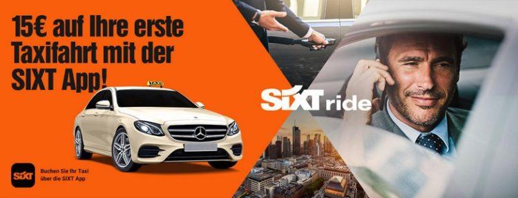 15€ Rabatt Taxifahrt SIXT