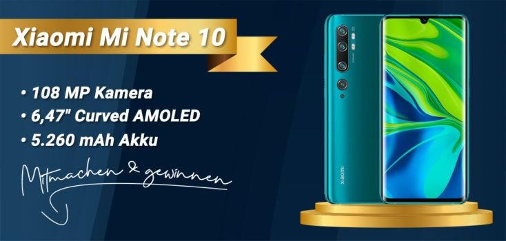 Xiaomi Mi Note 10 gewinnen